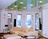 Стеклянные потолки в интерьере: варианты конструкций