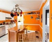 Оранжевая кухня - фото-примеры, цветовые сочетания, мебель