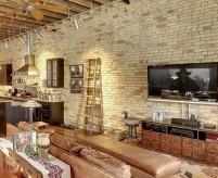 Проекты интерьеров квартир с кирпичными стенами