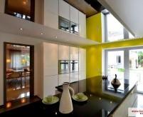 Зеркальный натяжной потолок - 25 фото примеров