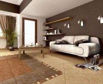 Плитка в интерьере гостиной: керамическая, декоративная из искусственного камня, зеркальная