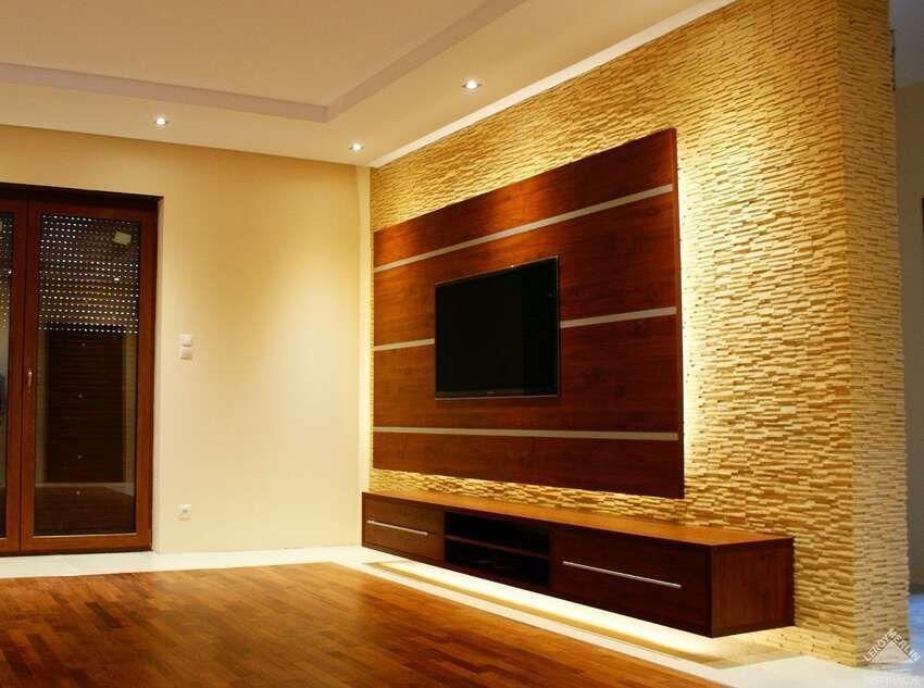 после свадьбы декор квартиры стена со вставкой подсветкой показывает практика, второй