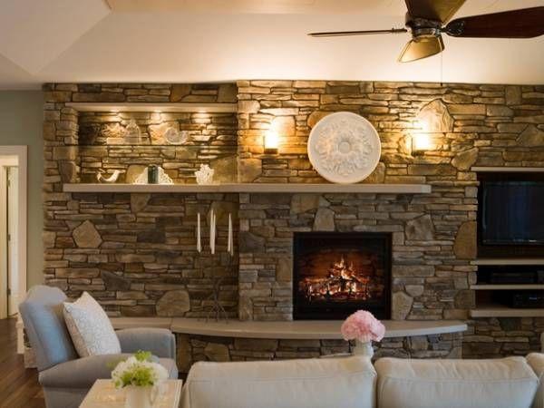 Как сделать стену с камином