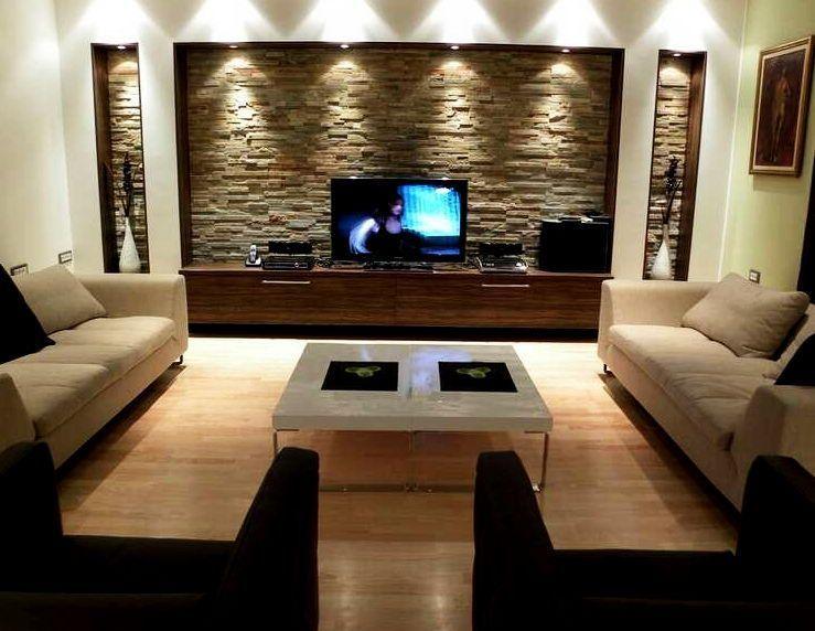 Фото дизайн телевизоров на стене