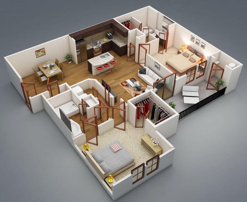 Планировки квартир с фото домов