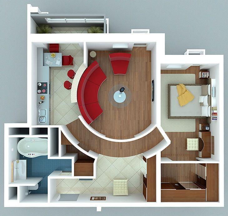 Планировка двухкомнатных квартир фото