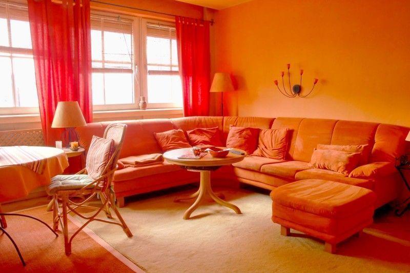 Оранжевая комната фото