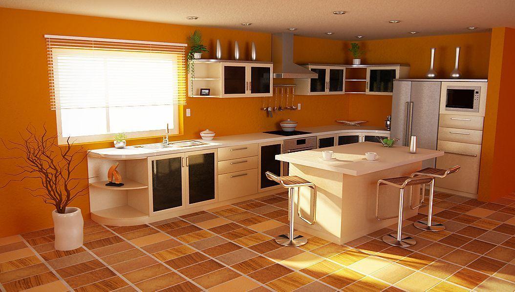 Подобрать цвет интерьера на кухне