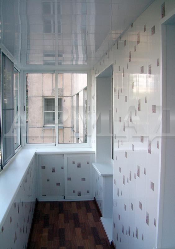 Отделка балкона пластиковыми панелями внутри фото видео..