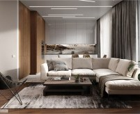 Трёхкомнатная квартира в стиле минимализм со светодиодной подсветкой