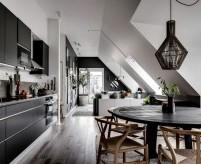 Два проекта квартир на мансарде в скандинавском стиле