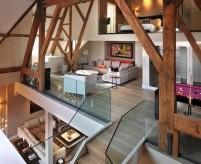 Интерьер трёхуровневого пентхауса на мансарде в Лондоне