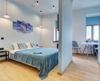 Кухня и спальня, совмещённые в одной комнате - 7 примеров зонирования