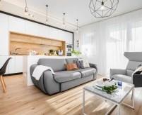 Современная квартира 80 кв.м, с элементами ретро, Польша