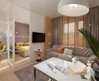 Дизайн однокомнатных квартир в современном стиле - 3 проекта с планировками и фото