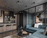 Проекты маленьких квартир студий в стиле лофт (5 проектов, 70 фото)