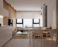 Большая однокомнатная квартира в стиле минимализм - 12 фото + планировка