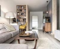 Простой, но стильный интерьер квартиры в стиле mid-century modern - 18 фото
