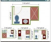 Планировка и зонирование ванной комнаты (санузла)