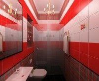 Красный цвет в интерьере ванной и его сочетания