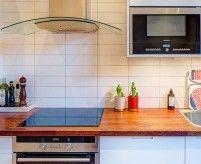 Кухонный фартук из плитки - виды плитки, примеры раскладки