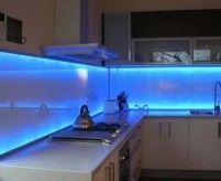 Подсветка фартука в кухне: типы светильников, примеры, фото