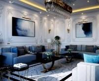Гостиная с высоким потолком, варианты дизайна интерьера