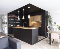 Чёрный цвет в интерьере кухни - примеры  от абсолютно чёрного дизайна до сложных цветовых сочетаний (60 фото)