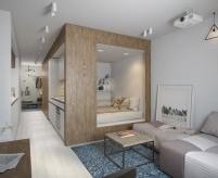 Проекты квартир-студий в современном стиле