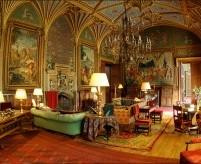 Неоготические интерьеры замков XIX века