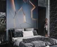 Спальня с высоким потолком, правила оформления